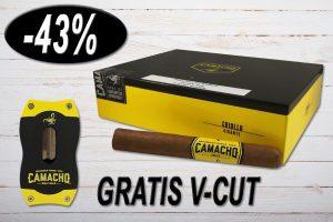 Camacho Criollo Gigante, Ring 54, Länge: 165 mm, Box 20er und einen V-Cut Gratis, 43% Rabatt, Black Friday Sale