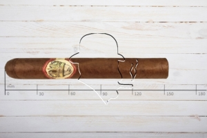 Caldwell Long live the King Petit Double Wide Short Churchill, Toro, Ring 52, Länge 152 mm