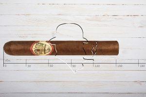Caldwell Long live the King Petit Double Wide Short Churchill, Toro, Ring 52, Länge 152 mm