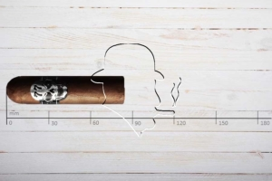 Cigare / Skull 77 El Nino, Gordito, Ring 58, Länge: 83 mm
