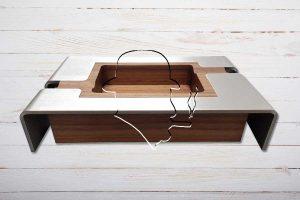 Smoke&Style Zigarrenascher, Duos, 2er, Nussbaum-Holz/Edelstahl