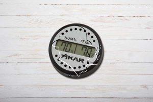 XIKAR Hygrometer PuroTemp, digital, rund, Feuchtigkeit/Temperatur