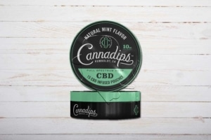 Cannadips Natural Mint Flavor, CBD-Snus