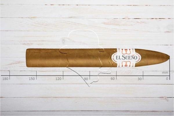 El Sueno Classic Line Claro Belicoso, Ring 52, Länge: 162 mm