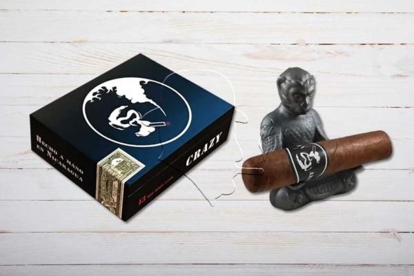Crazy Monkey Big Robusto, Double Robusto, Ring 58, Länge: 127 mm, Box 13er inkl. Zigarrenbank