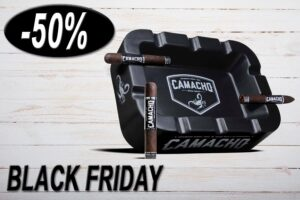 Camacho Big Bold Ashtray, Aschenbecher, Zigarrenascher, schwarz, Aktion 50% Rabatt, Black Friday Sale