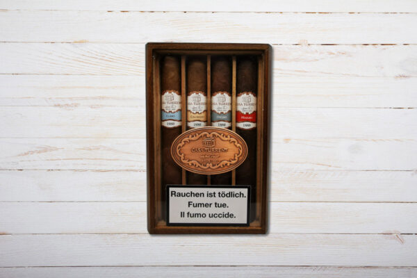 Casa Turrent Linea 1880 Sampler mit 4 Zigarren, Claro, Colorado, Oscuro, Maduro, Double Robusto, 165mm, Ring 55, Mexico