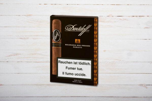Davidoff Nicaragua Box Pressed Robusto, Etui 4er, Ring 48, Länge: 127 mm