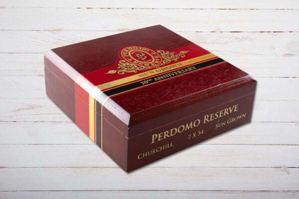 Perdomo Reserve 10th Anniversary Sun Grown boxpressed Churchill, Ring 54, Länge: 178 mm, Box 25er