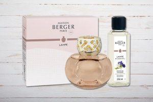 Lampe Berger Paris, Set Senso Nude, mit Duft Fleur de Musc, Musk Flowers, Maison Berger