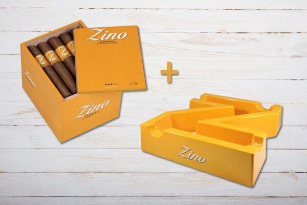 Zino Nicaragua Robusto, Box Aktion, Gratis Aschenbecher in Form eines Z, Ablage für 4 Zigarren