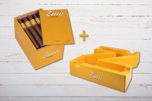 Zino Nicaragua Toro, Box Aktion, Gratis Aschenbecher in Form eines Z, Ablage für 4 Zigarren