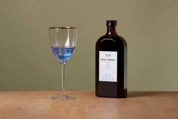 Deux Freres Gin, Dry Gin, 50cl, blauer Gin