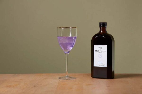 Deux Freres Gin, Dry Gin, 50cl, violetter Gin