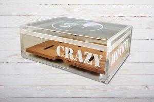 Crazy Monkey Acryl Humidor für ca. 20 Zigarren